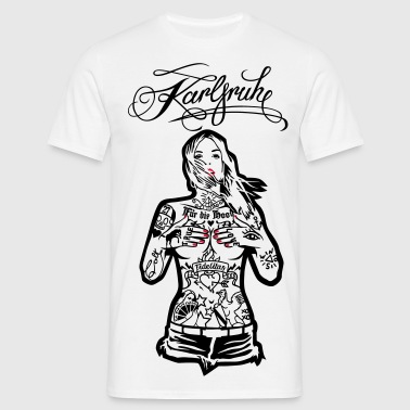 Tattoo Girl - For the Hood Karlsruhe - for lyse - T-skjorte for menn