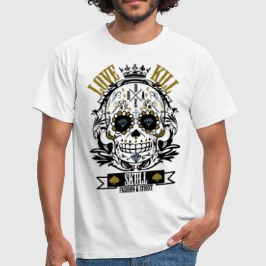 Skull love & Kill - T-shirt Homme