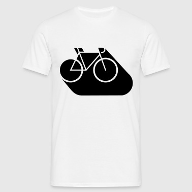 Road bike cycling bicycle sports illustration - Men's T-Shirt