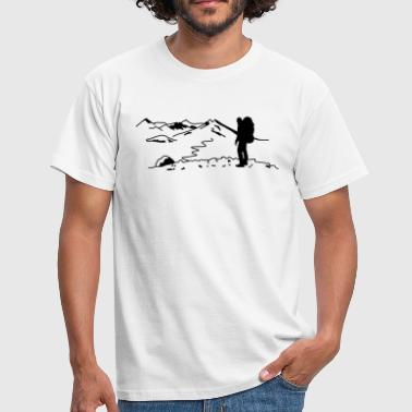 Backpacker - Wanderer - Männer T-Shirt