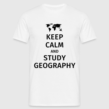 keep calm and study geography - Koszulka męska