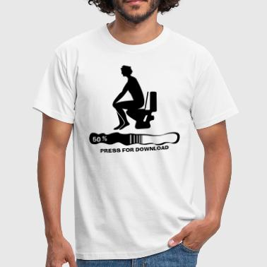 Press for Download - Männer T-Shirt