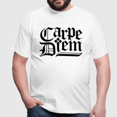 Carpe Diem - T-skjorte for menn