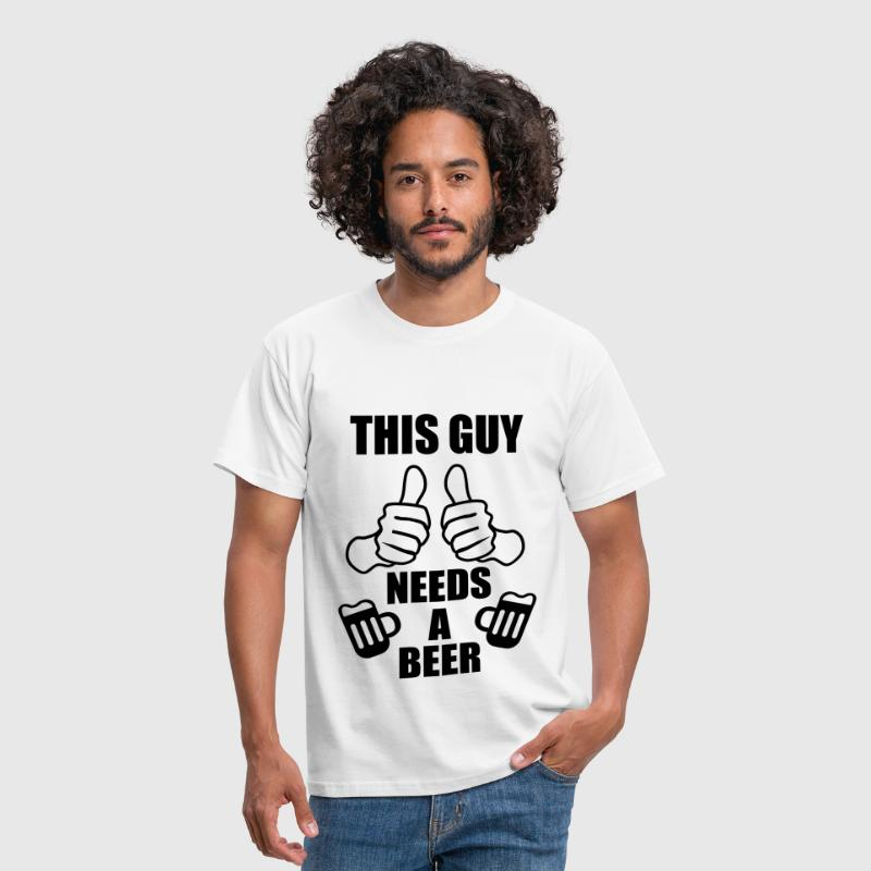 This Guy needs a beer - Birra - Maglietta da uomo