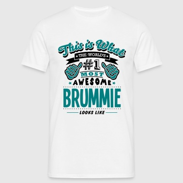 brummie world no1 most awesome copy - T-shirt Homme