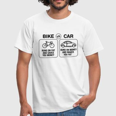 Bike VS Car | Burn Fat Not Oil | Love Cycling - Männer T-Shirt