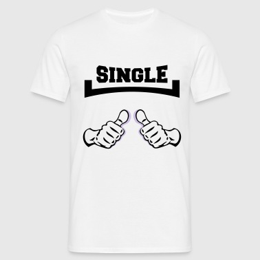 handen single - Mannen T-shirt