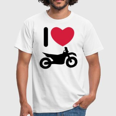 I love biking - Männer T-Shirt