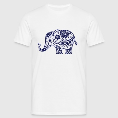 a decorated Indian elephant - Men's T-Shirt