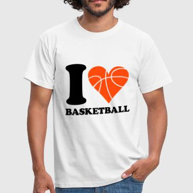 I love Basketball - T-shirt Homme