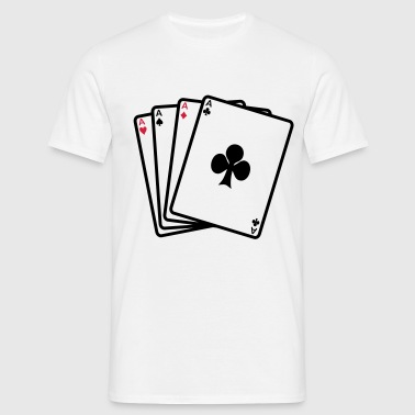 poker cards - Mannen T-shirt