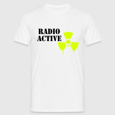 radioaktive - T-skjorte for menn