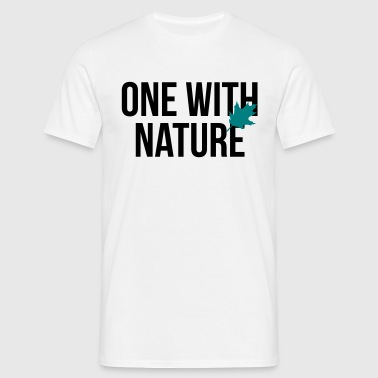 one with nature - Männer T-Shirt