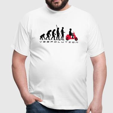 evolution_vespa_b_2c - Männer T-Shirt