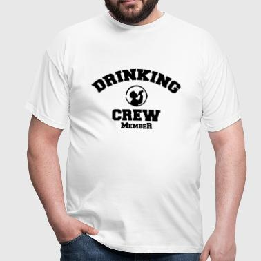 drinking crew - Men's T-Shirt