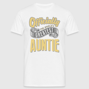 Officially the worlds greatest auntie - Men's T-Shirt