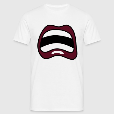 mouth cry cry - Men's T-Shirt