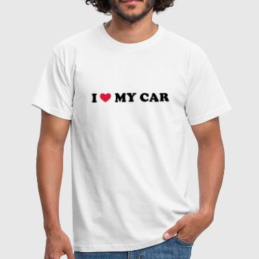 I Love My Car - Männer T-Shirt