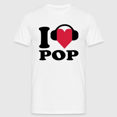 I love Music - Pop - Männer T-Shirt