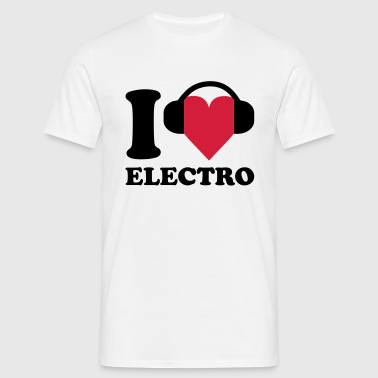 I love Music - Electro - Mannen T-shirt