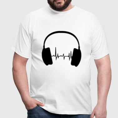Headphone and Beat - Männer T-Shirt