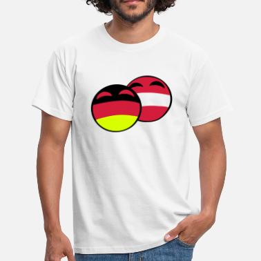 Countryballs austria germany countryball - Männer T-Shirt