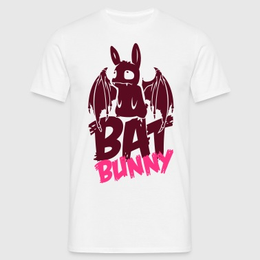 bunny_bat_text - Männer T-Shirt
