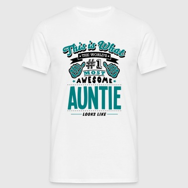 auntie world no1 most awesome copy - Men's T-Shirt