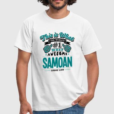 samoan world no1 most awesome copy - T-shirt Homme