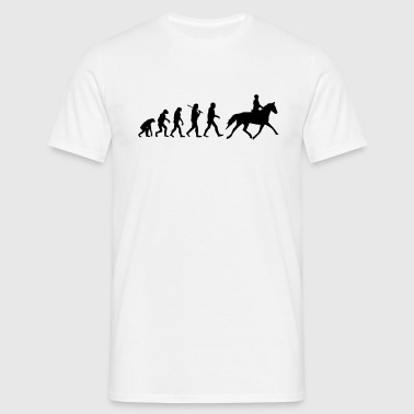 Evolution of Reiten - Männer T-Shirt