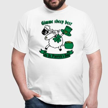 st_patricks_sheep_white - T-shirt Homme