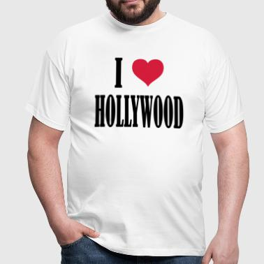 i_love__hollywood - Männer T-Shirt