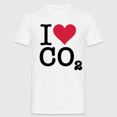 I Love CO2 - Herre-T-shirt