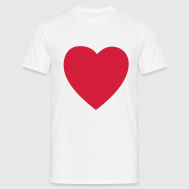 heart valentines day - Men's T-Shirt