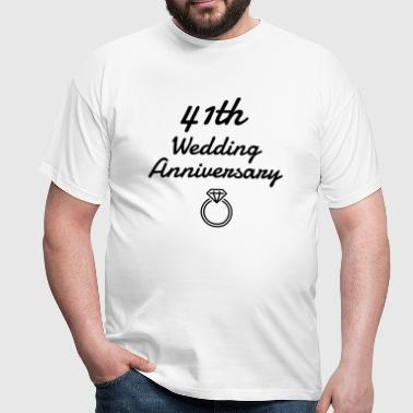 41 - Birthday Wedding - Marriage - Love - Camiseta hombre