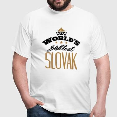 worlds shittest slovak - Men's T-Shirt