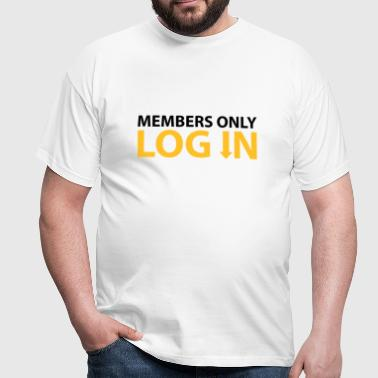 Members only Log in © - Camiseta hombre