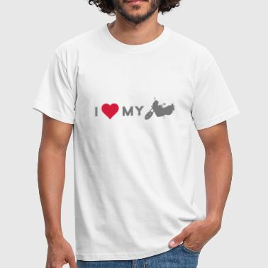 i love my motorcycle - Men's T-Shirt
