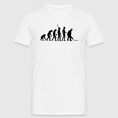 evolution_bauarbeiter_2c - Mannen T-shirt