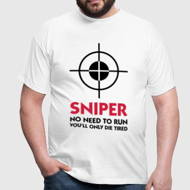 Sniper: I ll spare you the running! - Men's T-Shirt