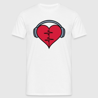 Heartbeat Headphones - Men's T-Shirt