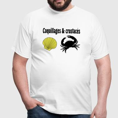 coquillages crustaces - T-shirt Homme