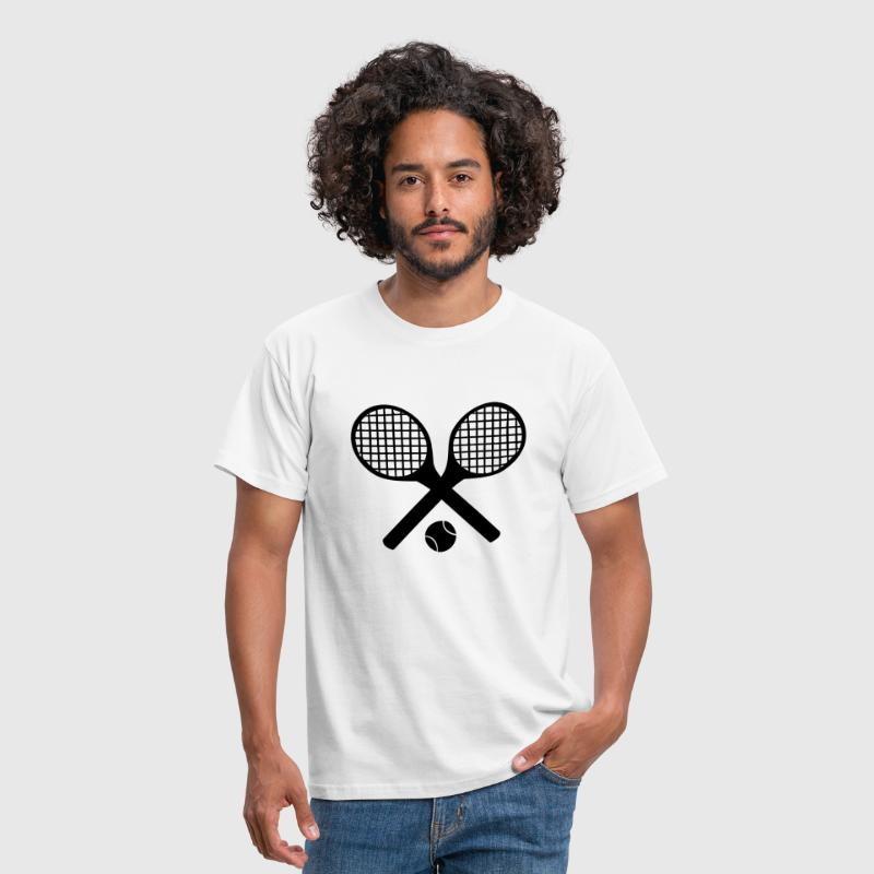 Tennis Rackets and Ball - Men's T-Shirt