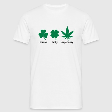 Super Lucky hemp leaf - Men's T-Shirt