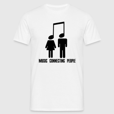 Music Connecting People - Mannen T-shirt