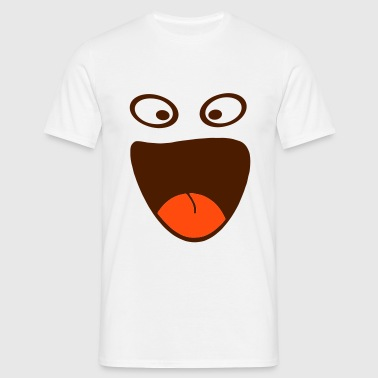 Happy Smile Eye (2c) - Men's T-Shirt