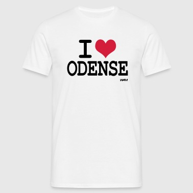 i love odense by wam - Herre-T-shirt