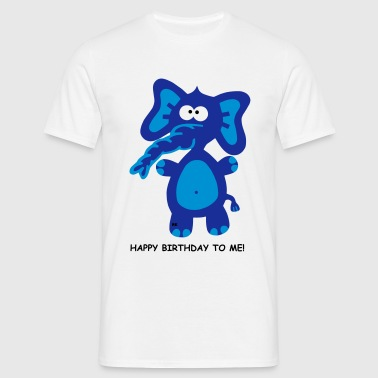 Happy Birthday Geburtstag Party Fun Elefant Party - Camiseta hombre