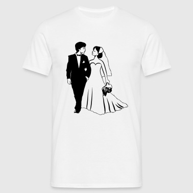 Marriage happy bride groom - Men's T-Shirt