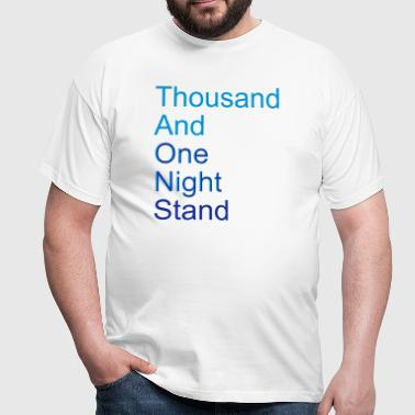 thousand and one night stand (2colors) - Mannen T-shirt